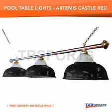Premium Quality Black Shade Metal Pool Billiard Snooker Table Light Free Deliver