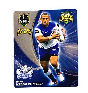 NRL Hazem El Masri Tazo Footy Frames Canterbury-Bankstown Bulldogs - New