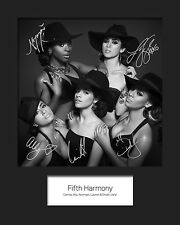 FIFTH HARMONY #2 10x8 SIGNED Mounted Photo Print - FREE DELIVERY