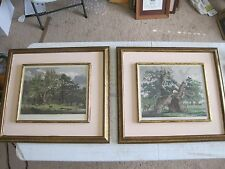 Jacob George Strutt Sylva Britannica 1826  Two (2) Framed Engraving 22x25""