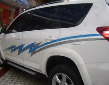 Car Racing Stripe Door Decals for RAV4 Vinyl Graphics Side  stickers #ZW156