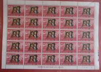 1972 ROYAL SILVER WEDDING - 2 COMPLETE SHEETS OF 25 STAMPS ST.CHRISTOPHER,NEVIS