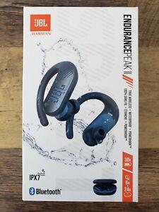 JBL Endurance Peak II Blue In-Ear Headphones - Factory Sealed