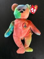 TY Beanie Babies 1996 ty Peace Bear Retired w/ TAG ERRORS 11 ERROR RARE FEATURES