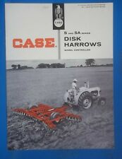 1964 Sales Brochure Dealer Case Tractors Disk Harrows Wheel Controlled S and SA