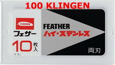 100 St Feather FH-10 Double Edge Razor Blades For Safety Razor Made IN Japan