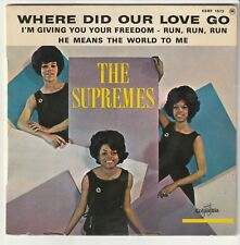 """The SUPREMES - Where did our love go + 3 - EP 45T (7"""") vinyle FRANCE 1964"""