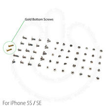 Complete Screw Set Replacement for iPhone 5s SE With 2 Gold Bottom Screws