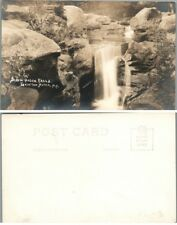 SCREW AUGER FALLS CRAFTON NOTCH STATE PARK ME VINTAGE RPPC REAL PHOTO POSTCARD