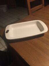 Cream White Color HAEGER PLATE / DISH #3881 Rectangular Shaped