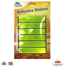 6 X Reflective Stickers High Visibility Sticker Night Ride Kids Bag Bike Moped
