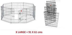 Big Panel Wire Metal Pet Dog Animal Cat Playpen Fence Enclosure Cage 91cm x 61cm