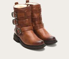 Frye Valerie Shearling/Fur Belted Ankle Boot 6