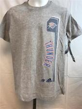 New Oklahoma Thunder Youth Size M Medium (10/12) Grey Adidas Shirt MSRP $20
