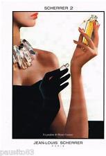 PUBLICITE ADVERTISING 095  1987  JEAN-LOUIS SCHERRER   parfum haute couture n°2