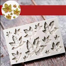 Tool DIY Fondant Cake Decor Silicone Mold Mould Maple Leaves Cake Mold