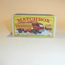 Matchbox Lesney 70 b Ford Grit Spreading Truck empty Repro E style Box