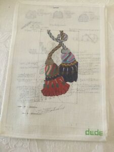 Hand Painted Needlepoint Canvas18 ct DEDE Tassels With Stitch Guide