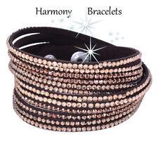 Brown Swarovski Elements Wrap Bling Bracelet by Harmony Bracelets