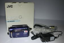 JVC GZ-MG630 HDD 60 GB Camcorder Blue Software Manual Remote Cables Dock Youtube