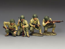 """KING & COUNTRY DD327 WWII U.S. ARMY RANGERS """"STORMING THE BEACH"""" SET NO. 1  MIB!"""