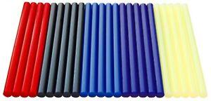Ausbeul Heißkleber 24 Sticks 11 x 200 mm schwarz blau rot gelb mit Harz PROMOSET