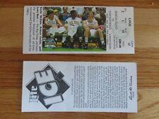 Game 12 McHale Parish Bird Last Season BOSTON CELTICS 12/28/94 TICKET Garden