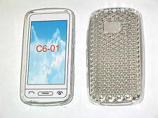 For Nokia C6-01 Protector Pattern Gel Case Protector Cover Crystal Clear New UK