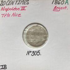 20 CENTIMES NAPOLEON III - 1860A - Pièce de monnaie en Argent // TB