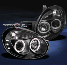 2003 2004 2005 DODGE NEON SEDAN DUAL HALO LED BLACK PROJECTOR HEADLIGHTS SIGNAL