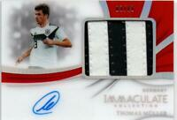Panini 2018-19 Immaculate Thomas Muller Premium Patch Autographs Jersey No 03/13
