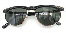 Retro Gafas de sol 60er Jahre en negro / Verde Vintage Unisex