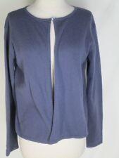 Eileen Fisher Blue Angora Wool Nylon Short Cardigan Sweater M One Button