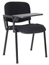 10 x Sedia con ribaltina scrittoio tavoletta NERO sedie attesa conferenza corsi