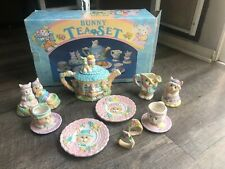 1994 Mercuries Bunny Tea Set 14-piece Set New In Box