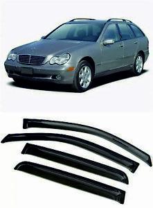 For Mercedes-Benz C S203 2001-2007 Window Visors Sun Rain Guard Vent Deflectors