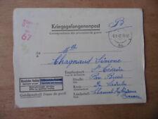 KRIEGSGEFANGENENPOST 39-45 LETTRE PRISONNIER DE GUERRE STALAG IX A