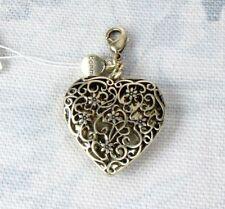 BOHM Clasp-On-Charm Vintage Gold Plate Filigree LOVE HEART Valentine LOCKET BNWT