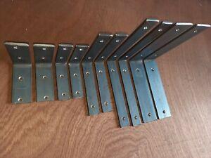 Pair*Handmade*Heavy Duty Shelf Brackets*Shelving*Industrial*Rustic*Iron*Steel*LP