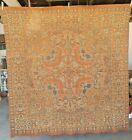 """ANTIQUE WOVEN WALL TAPESTRY / TABLE COVER - 61"""" SQUARE"""