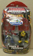 2007 Transformers titanium Series Optimus Prime And Bumblebee Toys R Us RARE