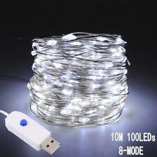 USB LED String Copper Wire Fairy Lights White USB 5V Xmas Party Fairy Decor Lamp