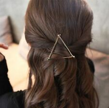 GOLD Triangle Hair Clip Jewellery Wedding Boho Gold Goth Punk Latest Hair pins