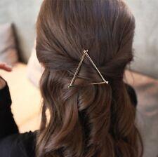 Gold Triangle Pince à Cheveux Bijoux Mariage Boho Or Punk Goth dernière épingles à cheveux