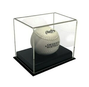 Case / 8 BCW Deluxe Acrylic Softball Displays holders cases showcases protectors