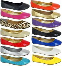 WOMANS LARGE SIZES FLAT BALLET PLAIN PUMPS BALLERINA LADIES DOLLY BIG SHOES 8-11