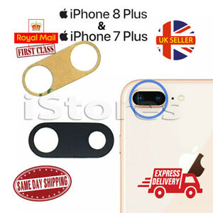 iPhone 7 plus & 8 Plus Replacement Rear Back GLASS Camera Lens Cover + Adhesive