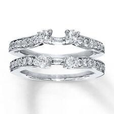 Wrap Ring 14K White Gold Finish 1/2 Ct Round-Cut Diamond Enhancer Engagement