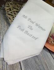 Personalised Embroidered Cotton Wedding/Celebration/Occasion Napkin/Serviette
