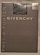 2 Pairs Givenchy Pret-A-Porter Fashion Pantyhose Black Style 3960 Size A/B